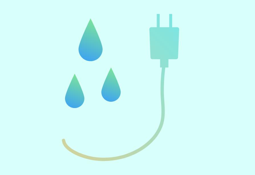水と電気のイメージ写真