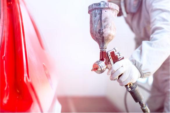 静電気を抑制し、自動車の塗装不良を防ぐ